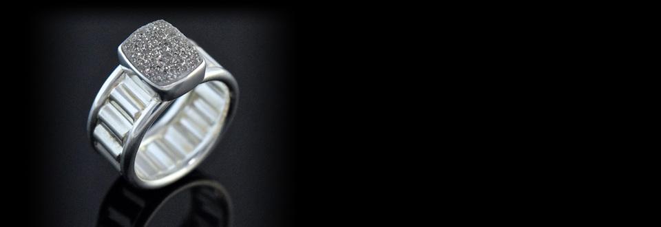 Sterling silver gear ring